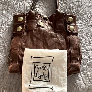 Brown Soft Leather Tote (Cynthia Rowley)